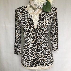 White House Black Market // Leopard Print Cardigan